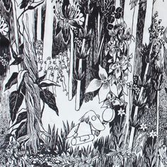 Bilderesultat for moomin illustrations Painting Inspiration, Art Inspo, Moomin Tattoo, Les Moomins, Tove Jansson, Book Journal, Book Illustration, Botanical Art, Poster Wall