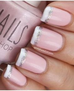 Pale Pink with White Tips