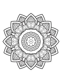 Mindfulness Mandalas by MTC Edições - issuu Pattern Coloring Pages, Mandala Coloring Pages, Coloring Book Pages, Coloring Sheets, Mandala Pattern, Mandala Art, Classe D'art, Quilling Patterns, Free Coloring