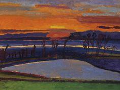 Graham Nickson (British, b. 1946), Ice Pond: Sunset, 2000. Oil on canvas, 30 x 40 in.