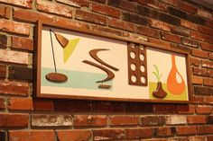 Mid Century Modern Wall Art Witco Inspired Madmen Abstract Sculpture Painting Retro Eames Era Atomic - The Bradley Modern Retrograde Sculpture Painting, Abstract Sculpture, Wall Sculptures, Abstract Wall Art, Wooden Wall Art, Wood Wall, Brick Wall, Wood Appliques, Mid Century Wall Art