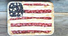 American Flag Slab Pie | Couldn't be Parve