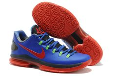Nike Zoom KD V Elite low Kevin Durant Shoes Royal Blue Red Colorways