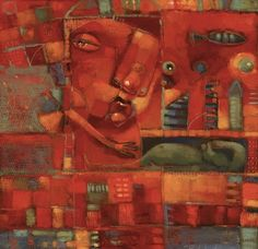 Moonchild In The Boneyard, painting by artist Brenda York