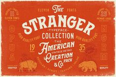 Stranger Font Collection + Extras by Opus Nigrum on @creativemarket