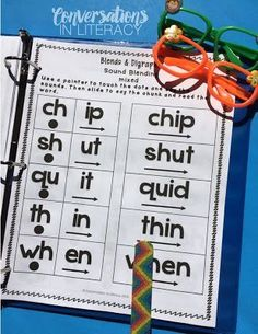 Blends and Digraphs Intervention Binder for RTI intervention groups, guided  reading, and word work