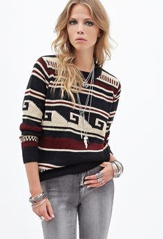 Meander Pattern Sweater | FOREVER21 - 2000099960