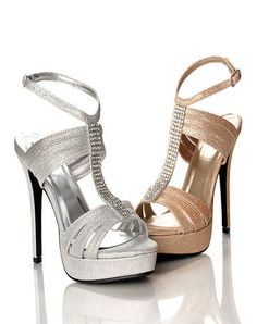 Sweeties Shoes COURTNEY - In Stock Glitter Platform Sandal $62 #prom #shoes #prom2014