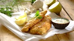 CRUNCHY CRUMBED FISH WITH TARTARE SAUCE - Why eat out when you can enjoy your very own fried fish with homemade tartare sauce? You can even get your children to help with coating the fish fillets! Fish Sides, Recipe Details, Fried Fish, Fish And Seafood, Great Recipes, Food To Make, Easy Meals, Good Food, Dinner