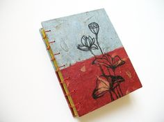 Hand Drawn Journal Book No.2  Lotus by Jungae on Etsy, $28.00
