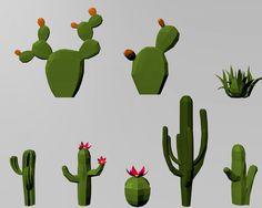 Low poly set oasis desert 3D 모델 in 조경 - 3DExport