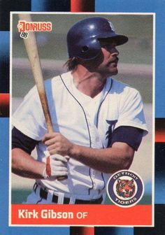 Dodgers, Kirk Gibson, Detroit Tigers Baseball, Ann Arbor, Trading Cards, Michigan, Mystery, Auction, Kitty