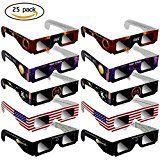#3: RUNFOR Solar Eclipse Glasses  25pack CE Certified Safe Shades for Direct safe Sun Viewing  Eye Protection