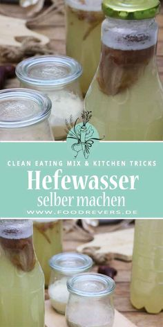 Make yeast water yourself Make yeast. Grow yeast recipe easily and quickly for yeast dough and bread. Make yeast and bake bread. Make the basic recipe. Diy Hacks, Cleaning Hacks, Food Hacks, Recipes With Yeast, Cooking Recipes, Pampered Chef, Sugar Free Vegan, Diy Food Gifts, Healthy Baking