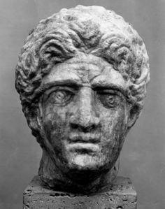 Late Antique 5th century CE head of the Greek King Alexander the Great stolen from Ostia Museum - history of #Macedonia, a kingdom of ancient #Greece