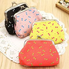 Womens Retro Canvas Clutch Hasp Key Change Wallet Purse Coin Bag Handbag Floral