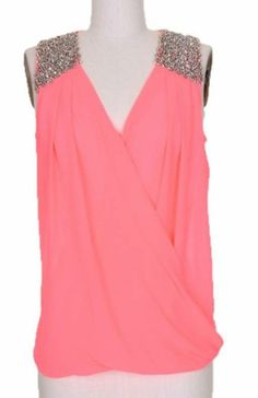 Bright Pink Embellished Shoulder Top - Runway www.runwayomaha.com