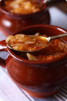 sopa de repollo y tomate
