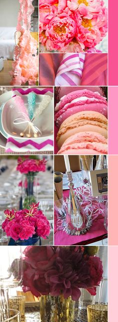 ruffled garland and more pink inspiration via For the Love of Design.