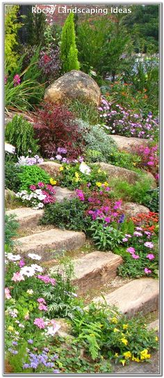 Wonderful ideas for landscaping in the front yard rock garden ., Wonderful Landscaping Ideas for Rock Garden Front Yard Even though age-old around strategy, the particular pergola has been suffering from a bit of a. Beautiful Gardens, Sloped Garden, Rockery Garden, Garden Design, Landscaping With Rocks, Rock Garden Landscaping, Cottage Garden, Urban Garden, Backyard Landscaping