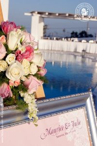 Wedding of Maurice and Julie – Santorini, Rocabella hotel, Wedding Menu, Wedding Receptions, Seating Charts, Table Numbers, Santorini, Photo Galleries, Table Decorations, Frame, Prints