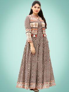 Order in Basket Long Jacket Dresses, Long Gown Dress, Sari Dress, Sari Blouse, Long Dresses, Kurta Designs, Blouse Designs, Dress Designs, Cotton Long Dress