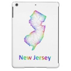Rainbow New Jersey map Case For iPad Air $77.30