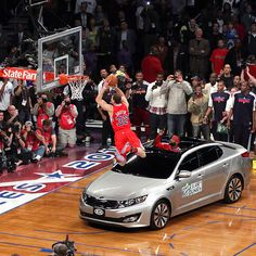 blake griffin goes airborne over a 2011 kia optima Basketball Is Life, Basketball Pictures, Basketball Legends, Nba Basketball, Slam Dunk, Derrick Rose, Lebron James, Michael Jordan, Best Dunks