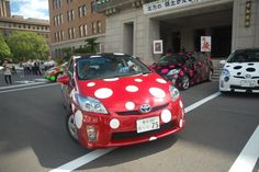polka dot cars