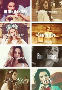 Quotes of Lana del Rey ♥ favourite songs #love the texts