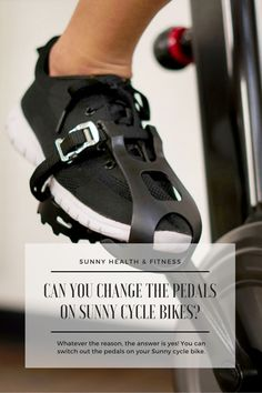 There are many reasons why you may want to swap out the pedals on your bike. You may be looking for an upgrade, such as pedals you can clip into with cleats, or perhaps a combination pedal to accommodate different users within your household. Whatever the reason, the answer is yes, you can switch out the pedals on your Sunny cycle bike! #sunnyhealthfitness #sunnybike #cyclebike #bike #indoorbike #cyclebikepedals #spd #spdpedals #cyclingcleats Cycling Cleats, Cycling Shoes, Fitness Equipment, No Equipment Workout, Health And Fitness Articles, Health Fitness, Bike Pedals, Training Shoes, Sunnies