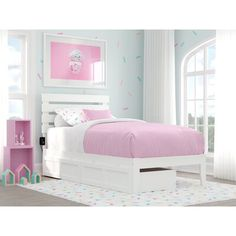 Trundle Bed Frame, Solid Wood Platform Bed, Bed Platform, Atlantic Furniture, Headboard Designs, Modern Loft, Contemporary Bedroom, Contemporary Design, The Doors