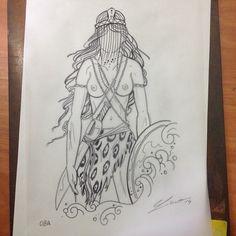 Obá Orisha, Fantasy Illustration, Custom Tattoo, Tattoos, Sketches, Comics, Artist, Drawings, Beautiful