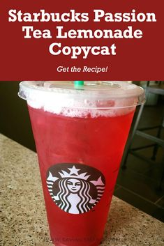 Have you had the passion tea lemonade at Starbucks? Starbucks Iced Tea Recipe, Starbucks Recipes, Starbucks Drinks, Tazo Passion Tea, Passion Tea Lemonade, Lemonade Tea Recipe, Green Tea Lemonade, Copycat Recipes, Drink Recipes