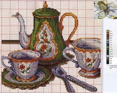 Cross Stitch Bookmarks, Cross Stitch Charts, Cross Stitch Embroidery, Cross Stitch Patterns, Crochet Patterns, Hobbies And Crafts, Diy And Crafts, Arts And Crafts, Cross Stitch Kitchen