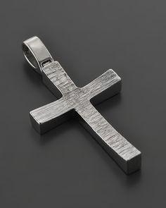 Σταυρός λευκόχρυσος Κ14 Wooden Crosses, Men Necklace, Cross Pendant, Christening, Different Styles, Jewelery, Prince, Jewelry Making, Pendants