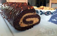 Snickersrullekake Food And Drink, Sweets, Baking, Cake, Desserts, Tailgate Desserts, Deserts, Goodies, Bakken