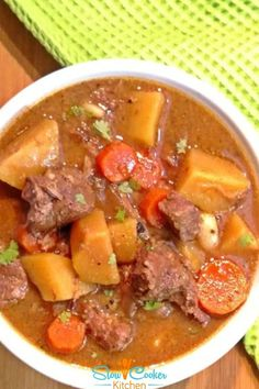 Super easy, kid approved beef stew recipe slow cooker! With crockpot, skillet-cooked, pressure cooker, & freezer meal directions! I hope this recipe helps you feed everyone & makes them smile. Enjoy! | Slow Cooker Kitchen Slow Cooker Kitchen, Slow Cooker Soup, Crockpot Recipes, Soup Recipes, Classic Beef Stew, Kid, Cookers, Budget Meals, Freezer Meals