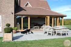 timber framed bungalows courtyard - Google Search Keller Interiors, Bungalows, Gazebo, Outdoor Structures, Google Search, Frame, Outdoor Decor, Home Decor, Picture Frame