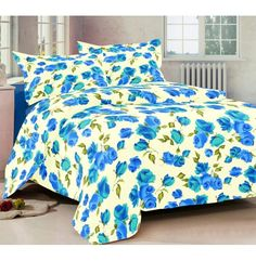 3 Pcs Cotton Bedsheets with Two Pillow Covers