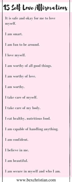 15 Self-Love Affirmations