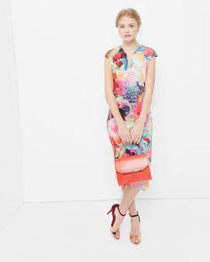 Floral Swirl bodycon dress - Fuchsia | Dresses | Ted Baker