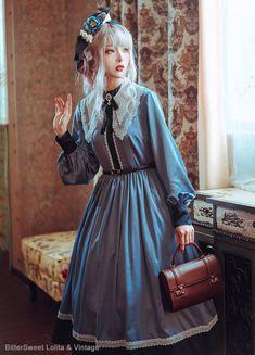 BitterSweet Lolita -Grey Goose- Vintage Classic Lolita OP Dress