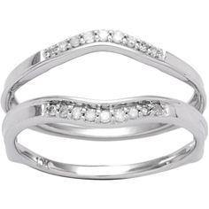 Elora 10k Gold 1/8ct TDW Diamond Enhancer Guard Wedding Band