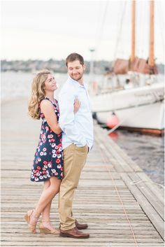 Nautical Engagement photos at The Seattle Center for Wooden Boats