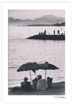 Juan les Pins - Lecture sur la plage #juanlespins #plage