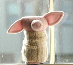 Wool RibTickler Pig Deidra by lorinichols on Etsy