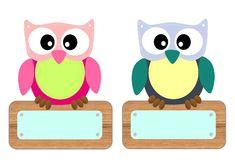 Classroom Job Chart, Owl Theme Classroom, Preschool Classroom, Preschool Names, Preschool Crafts, Cubby Labels, Owl Wallpaper, Owl Clip Art, Baby Applique