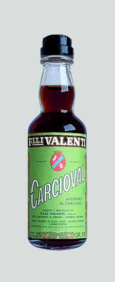 Valenti Eridanea - Mini Liquor Bottles - Artichocke - https://sites.google.com/site/valentieridanea/