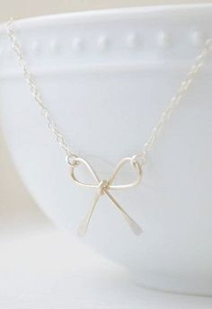 Sterling Silver Bow Necklace <--- i would use it as a bracelet :3
